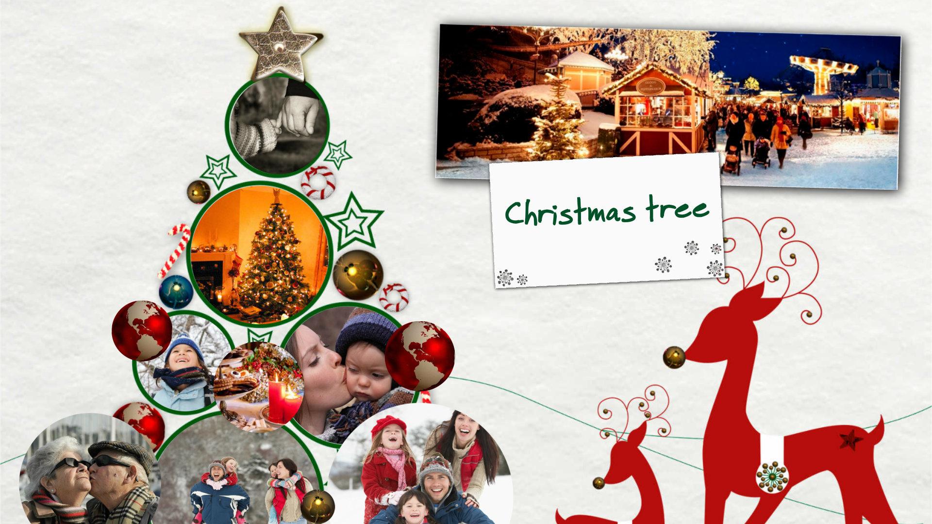 Collage Y Fotomontaje En Línea Con Tus Fotos Y Vídeos árbol De Navidad